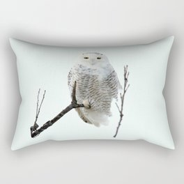 Snowy in the Wind (Snowy Owl 2) Rectangular Pillow