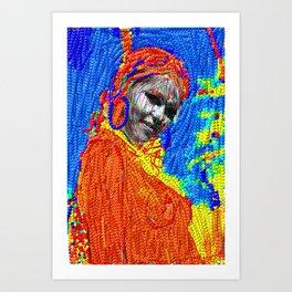 African girl Art Print