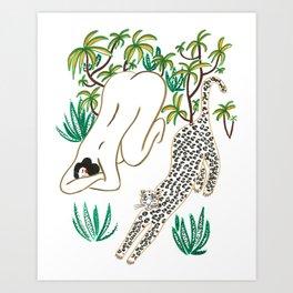 The Yoga Friends Art Print