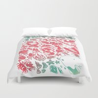 ponyo Duvet Covers featuring Ponyo by drawnbyhanna