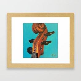 Violin Head Framed Art Print