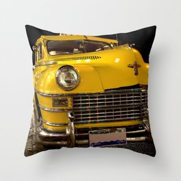 COOL CLASSIC NIGHT TAXI Throw Pillow