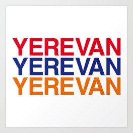 YEREVAN Art Print