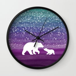 Bears from the Purple Dream Wall Clock