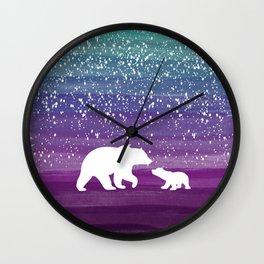 Bears from the Purple Dream Wall Clock