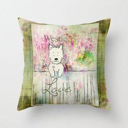 Westie Love ~ West Highland Terrier Throw Pillow