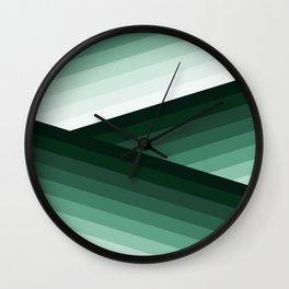 Serene Contemporary Green Ombre Design Wall Clock