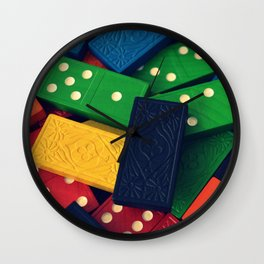 Dominoes 2 Wall Clock