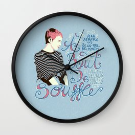 À bout de souffle - aleroundyou X f_e_l_i_x_x Wall Clock