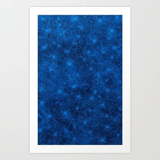Sequin series blue Art Print