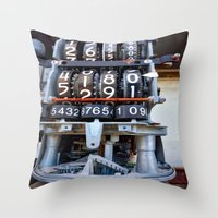 numbers Throw Pillows featuring Numbers by Kent Moody