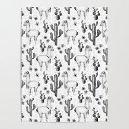 Llama Llamarama + Cactus 2 Poster
