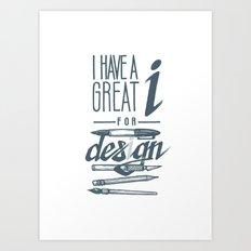 Clever Designer Art Print