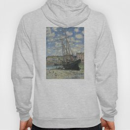 Claude Monet - Boats Lying at Low Tide at Facamp Hoody