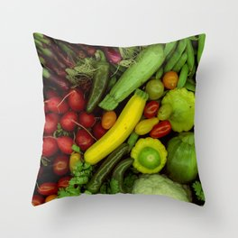Spring Mix Throw Pillow