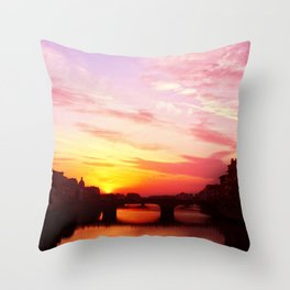 Sunset in Florance.  Throw Pillow