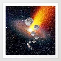sci fi Art Prints featuring Sci-Fi Space Universe by  Agostino Lo Coco