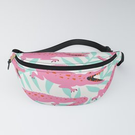 Alligator Collection – Pink & Turquoise Palette Fanny Pack