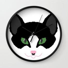 Pixel Cat Wall Clock