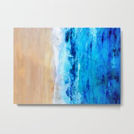 Watercolour Summer beach Metal Print