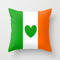 irish Throw Pillows featuring IRISH LOVE by shannon's art space