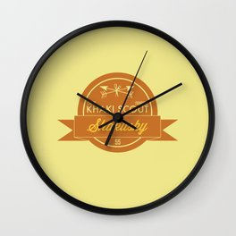 Camp Ivanhoe Patch Wall Clock