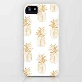 Orange Pineapple iPhone Case