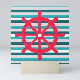 rudder ship Mini Art Print