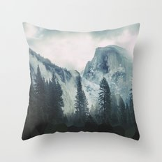 Cross Mountains Throw Pillow
