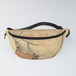 """Egon Schiele """"Female Nude Pulling up Stockings, Back View"""" Fanny Pack"""