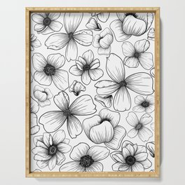Floral Wallpaper: 1 Serving Tray