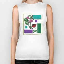 Flower Bloom Grow Biker Tank