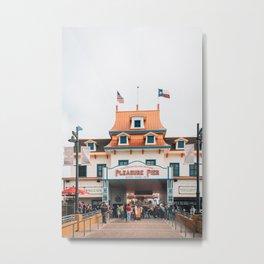 Pleasure Pier, Galveston 01 Metal Print