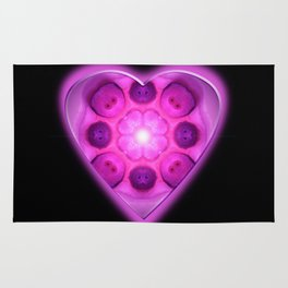 Glow Love Heart Rug