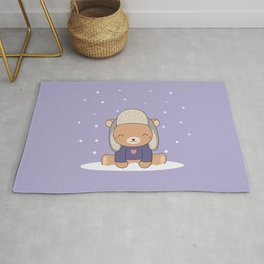 Kawaii Cute Winter Bear Rug