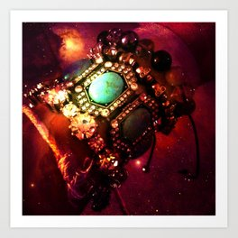 Jeweled Nebula Art Print
