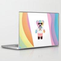 bondage Laptop & iPad Skins featuring Punk Rainbow Bondage Bear Full by YOSH FRIDAY