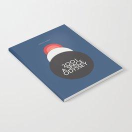 2001 a Space Odyssey, Stanley Kubrick alternative movie poster, dark blue  classic film, cinema love Notebook