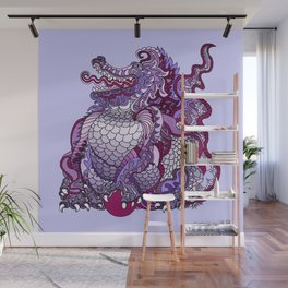 Dragon Royal Purple Wall Mural