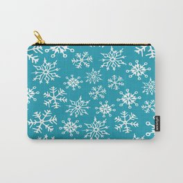 Snowflakes Pattern (Blue) Carry-All Pouch