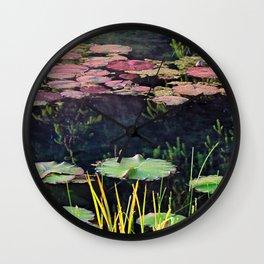 Lily Pads at Sunrise Wall Clock