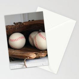 Baseball Glove Stationery Cards