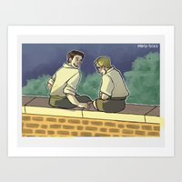 stucky Art Prints featuring stucky fourth of july 1 by maria euphemia
