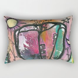 Bloom under sun moon and stars Rectangular Pillow