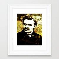nietzsche Framed Art Prints featuring Nietzsche by Katherine Barnett
