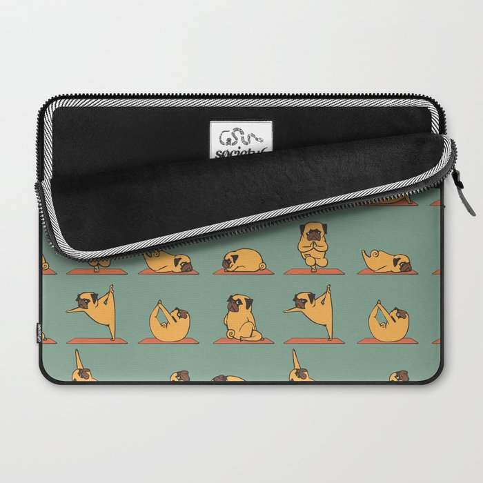 Pug Yoga Laptop Sleeve