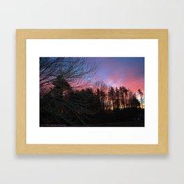 Fiery Silhouette Framed Art Print