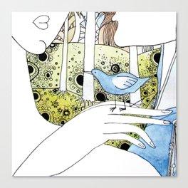 Spring-love-bird-arms-sheandhim Canvas Print