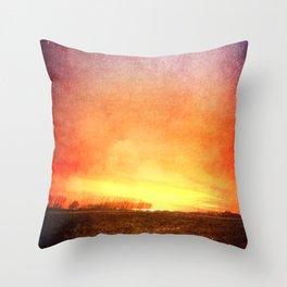 The Last Breaking Light Throw Pillow