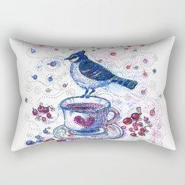 Winter Tea (Ble Jay) Rectangular Pillow